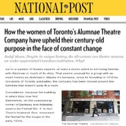 National Post article -icon - Alumnae Theatre