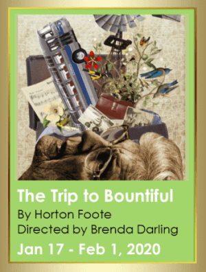 Poster for Alumnae Theatre play, 'The Trip to Bountiful'